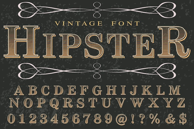 Vintage typography with the word hipster