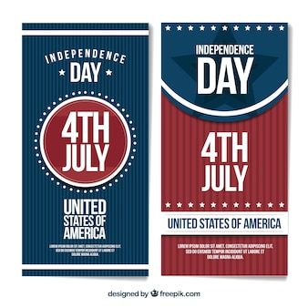 Vintage usa independence day banners