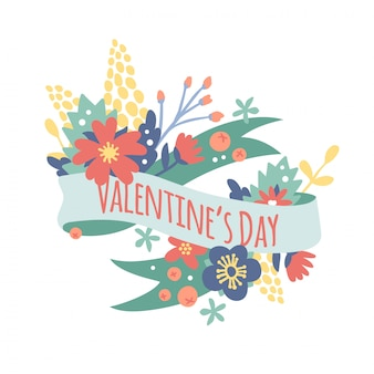 Vintage valentine day decoration flowers