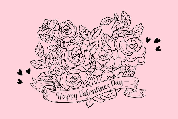 Vintage valentine's day background