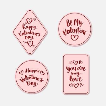 Vintage valentine's day badge collection