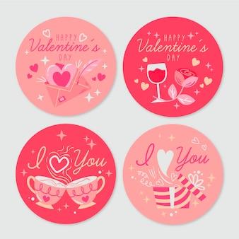 Vintage valentine's day badges