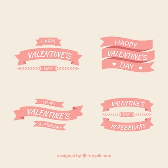Vintage valentine's day label/badge collection