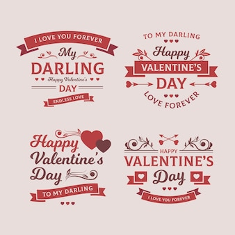 Vintage valentine's day labels