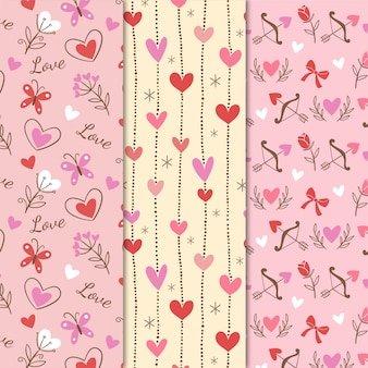 Vintage valentine's day pattern collection