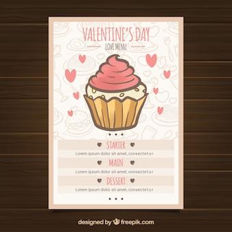 Меню дня vintage valentine