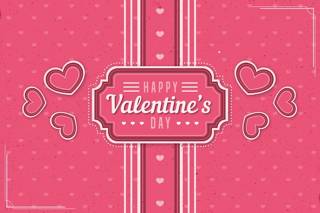 Vintage valentines day background