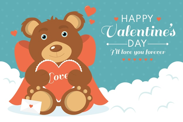 Vintage valentines day background