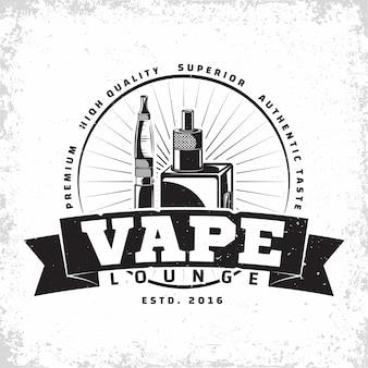 Винтажный дизайн логотипа vape lounge