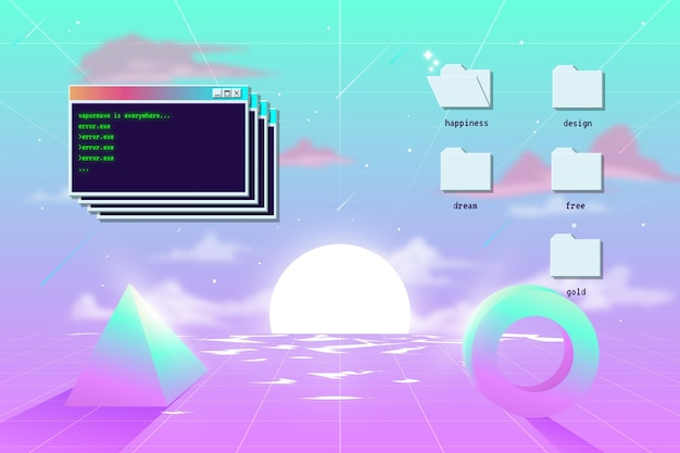 Vintage vaporwave background