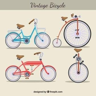 Varietà vintage di biciclette