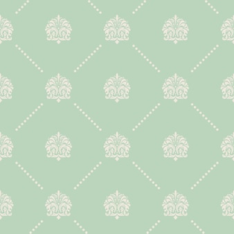 Vintage vector seamless pattern in baroque style