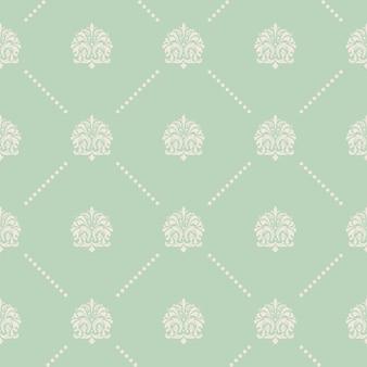 바로크 스타일의 빈티지 벡터 원활한 패턴