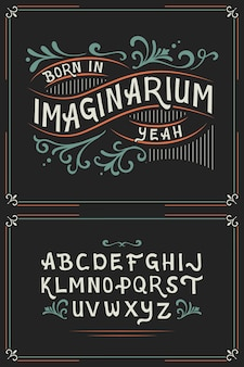 Vintage vector set of vector fonts and ornaments