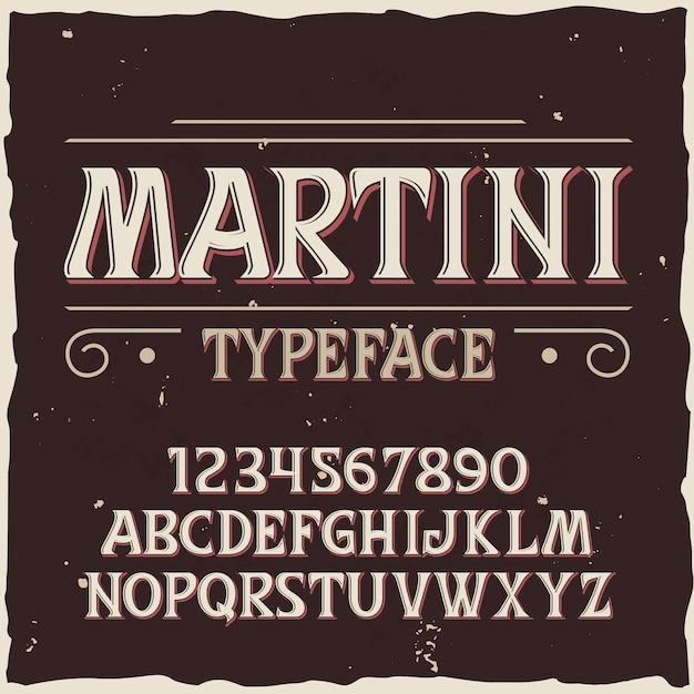 Винтаж векторный шрифт