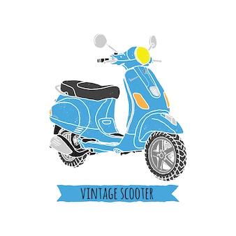 Vintage vespa ride classic