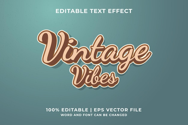 Vintage vibes text effect