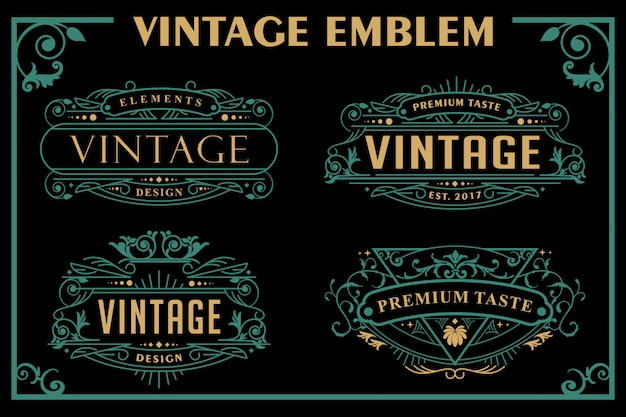 Vintage victorian emblem