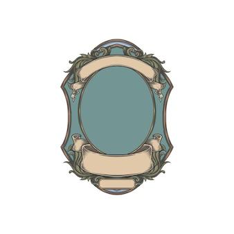Vintage victorian premium frame