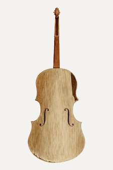 Cornelius christoffels와 edward jewett의 작품에서 리믹스된 빈티지 바이올린 일러스트레이션 벡터