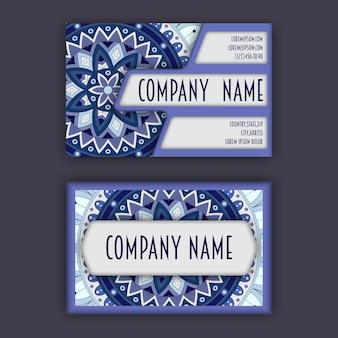 Старинные визитные карточки. цветочный орнамент мандалы и орнаменты.