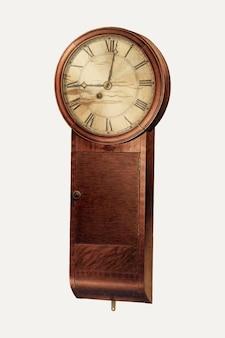 Illustrazione vettoriale di un orologio da parete vintage, remixato dall'opera d'arte di frank wenger