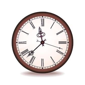 ローマの数字とヴィンテージの壁時計