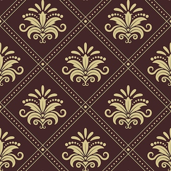 Vintage wallpaper seamless. background design in retro style.