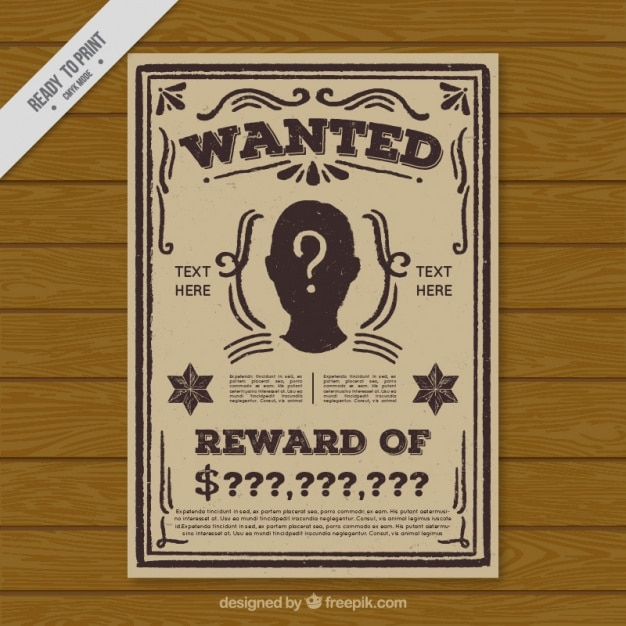 Wanted Vectors Photos and PSD files Free Download