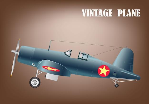 Vintage war plane vector illustration eps 10