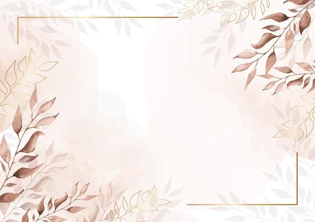 Винтаж акварель цветочный фон