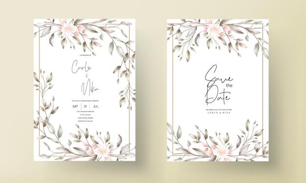 Винтажная свадебная открытка с цветочным дизайном