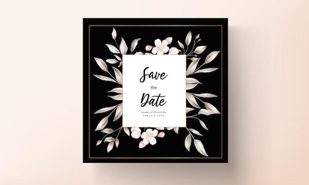 빈티지 웨딩 카드 꽃 디자인