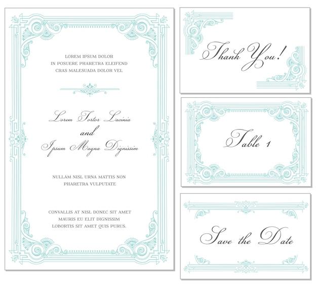Набор старинных свадебных рамок