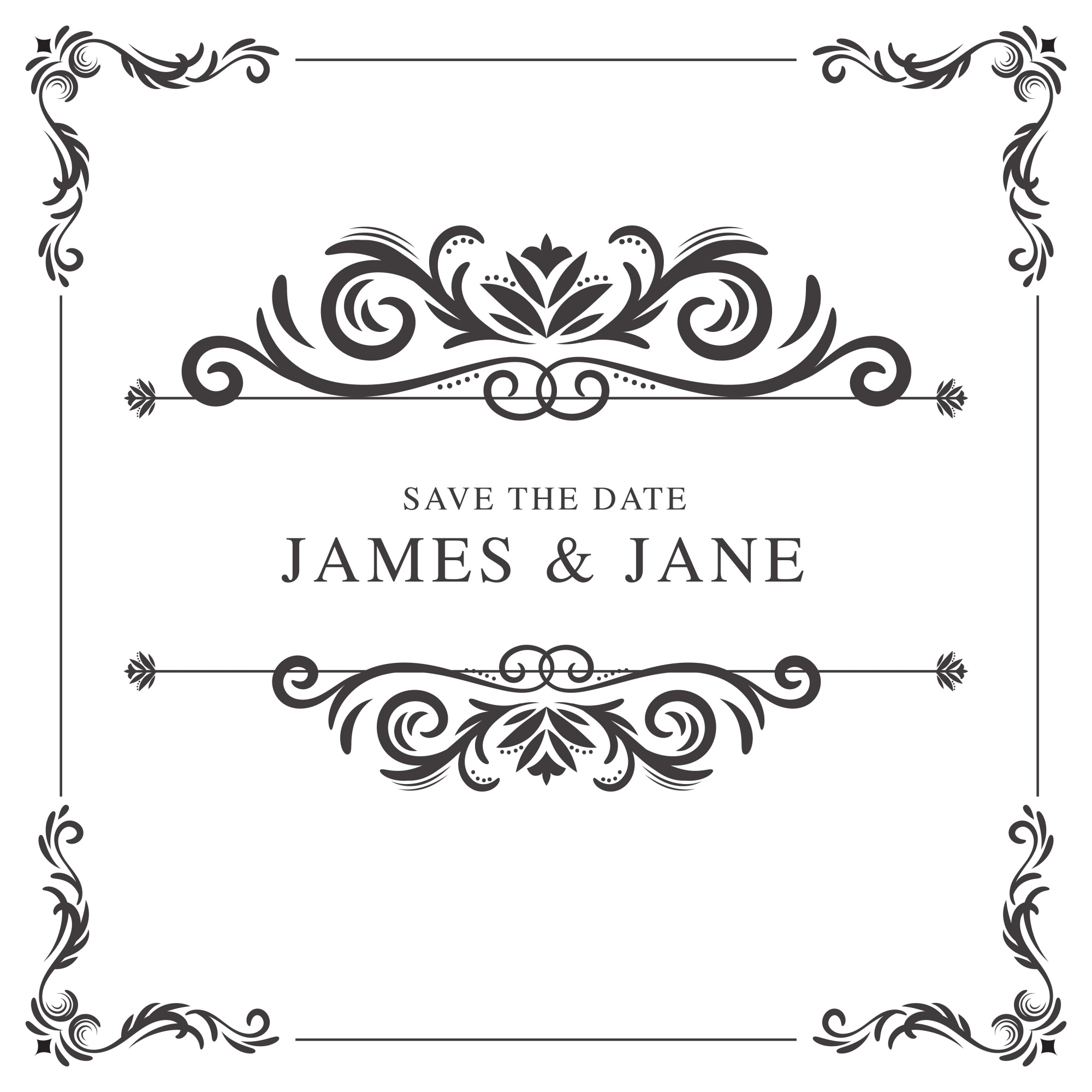 Wedding vectors 35 800 free files in ai eps format for Espejos rectangulares plateados