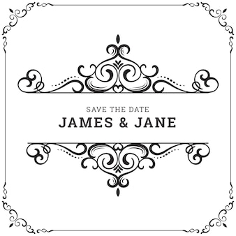 Swirl frame vectors photos and psd files free download vintage wedding frame junglespirit Image collections