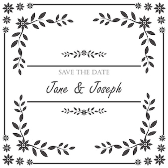 Vintage wedding invitation frame
