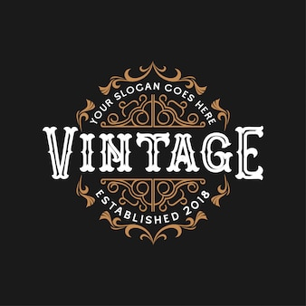 Vintage wedding logo design