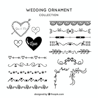 Vintage wedding ornament collection