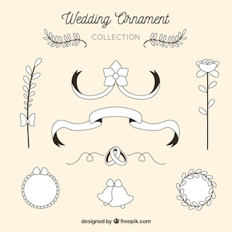 Vintage wedding ornament collection
