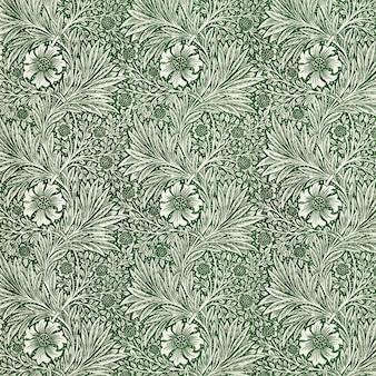 ヴィンテージ白い花のパターンベクトル
