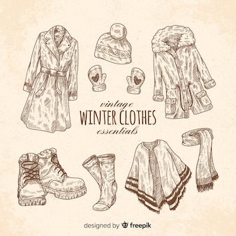 Vintage winter clothes essentials