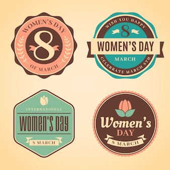 Vintage women's day badge collection
