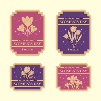 Vintage women's day label collection