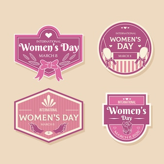 Vintage womens day label collection theme