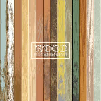 Vintage wooden background with old and faded colors