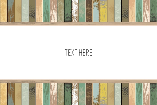 Vintage wooden background with old and faded colors.
