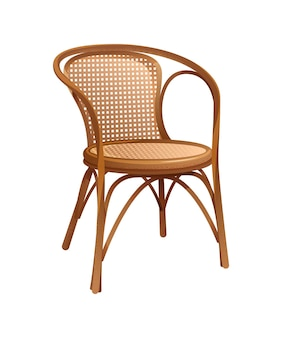 Vintage wooden chair. furniture for an interior