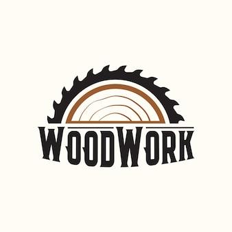 Vintage woodwork industries company logo
