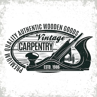 Vintage woodworking logo design